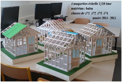 projet collectif maquettes abri de jardin coll ge rom de l 39 isle gray. Black Bedroom Furniture Sets. Home Design Ideas
